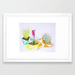 Neon Trio Framed Art Print