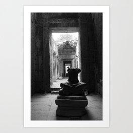 A portrait of Angkor Art Print