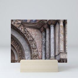 columns and carvings - saint marks venice Mini Art Print