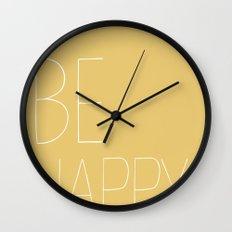 BE HAPPY. Wall Clock