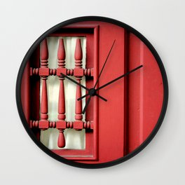 The Customary Red Door, But... Wall Clock