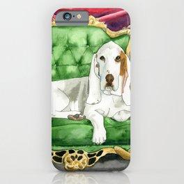 Royal Basset Hound iPhone Case