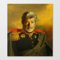 replaceface Canvas Prints featuring George Lucas - replaceface by replaceface