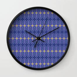 70's Pattern Modern Color Palette Wall Clock