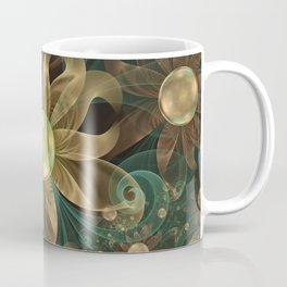 Shining Gems Blooming as Bronze and Copper Flowers Coffee Mug