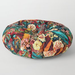 FLORAL AND BIRDS XVII Floor Pillow