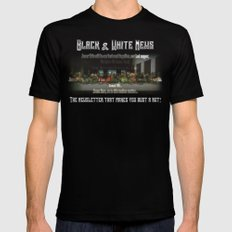 The Black & White Last Supper Mens Fitted Tee Black MEDIUM