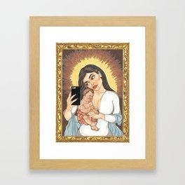 Kylie Con Il Bambino Framed Art Print