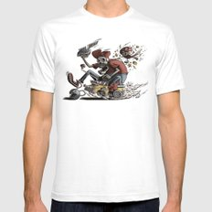 Death Kart White SMALL Mens Fitted Tee