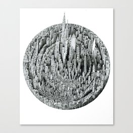 Particle (cityscape) Canvas Print