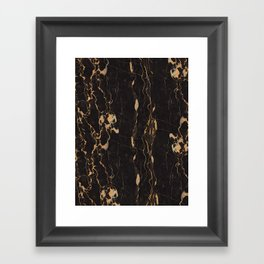 Real Marble Oro Framed Art Print