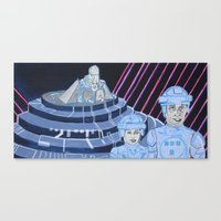 tron Canvas Prints featuring Tron by Robert E. Richards