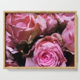 Shabby Chic Pink Roses Serving Tray