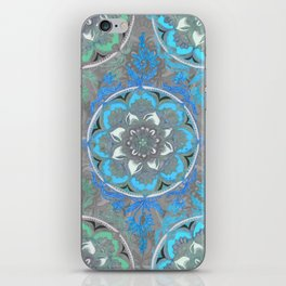 Mint Green, Blue & Aqua Super Boho Medallions iPhone Skin