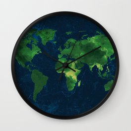 Earth map marble Wall Clock