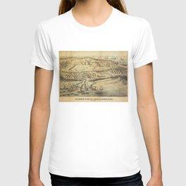 Old Roanoke Island Burnside Expedition Map (1862) T-shirt