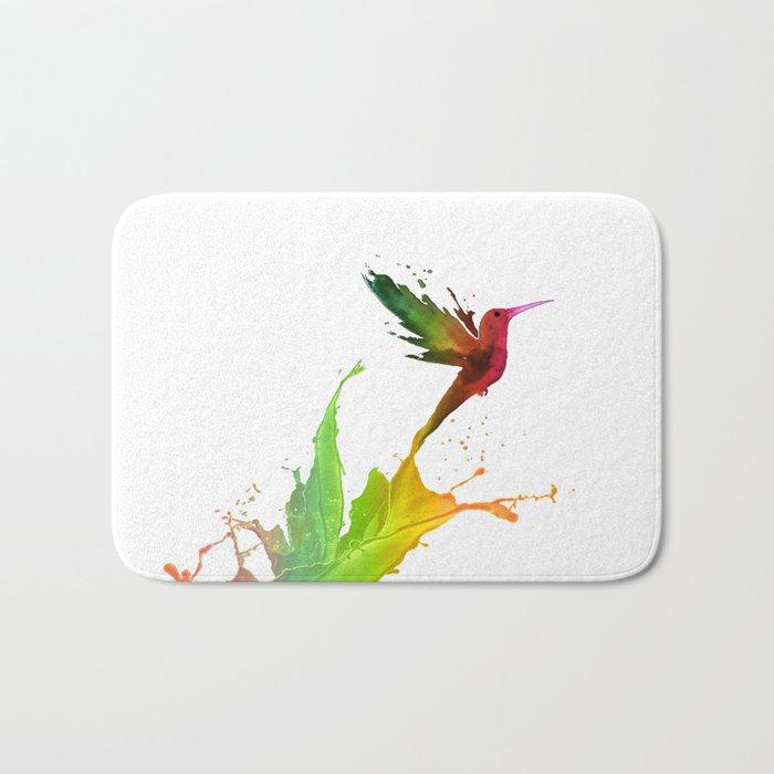 Humming Bird Colors Bath Mat