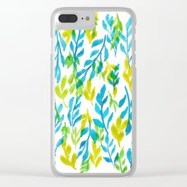 180726 Abstract Leaves Botanical 25  Botanical Illustrations Clear iPhone Case