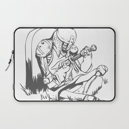 Illustration of a knight  wounded during a medieval battle Laptop Sleeve