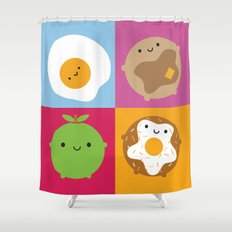 Kawaii Breakfast Shower Curtain