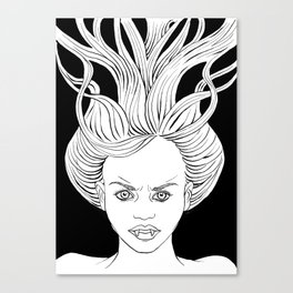 Angry Vampire Girl Canvas Print
