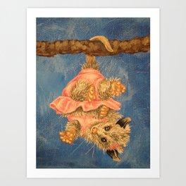 playful oppossum Art Print