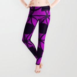 Geometric Orbital Circles In Purple and Magenta Leggings