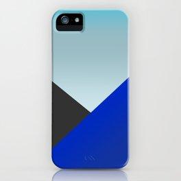 Blue Triangles iPhone Case