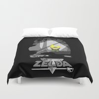 the legend of zelda Duvet Covers featuring Legend Of Zelda by DavinciArt
