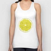 lemon Tank Tops featuring Lemon by Avigur