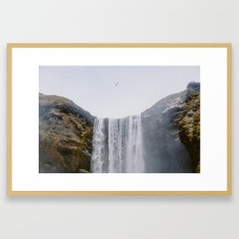 Skógafoss Waterfall, Iceland Framed Art Print