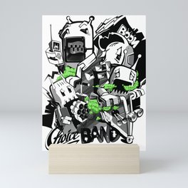 One day in the life of robots. Mini Art Print