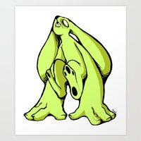Monsterbun Green Art Print