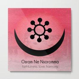 Osram Ne Nsoromma - Adinkra Art Poster Metal Print