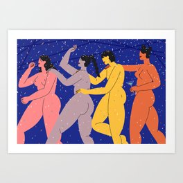 Babes' Night Out Babes Art Print