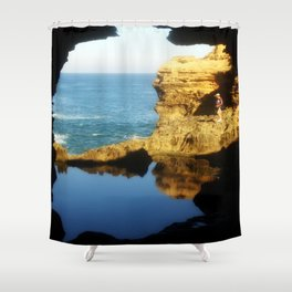 "Inside ""The Grotto"" Looking Out! Shower Curtain"