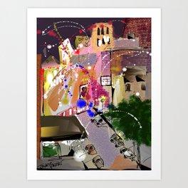 Fireworks in New York Art Print