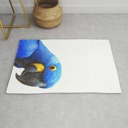 Blue Parrot Portrait Rug
