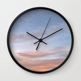 Pinkish Aesthetic Sky Wall Clock
