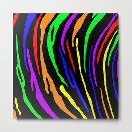 Rainbow Tiger Stripes Metal Print