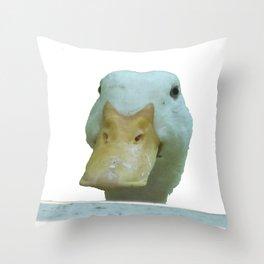 Peeking Duck Vector Throw Pillow