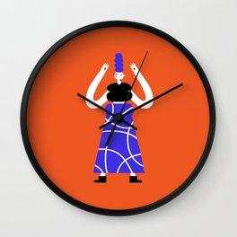Geometric dancer #1 Wall Clock