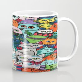 Crazy Cats Color  Coffee Mug