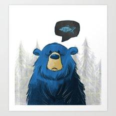 Hungry Bear Art Print