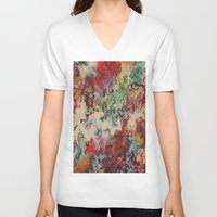 baroque V-neck T-shirts featuring Baroque by Gertrude Steenbeek