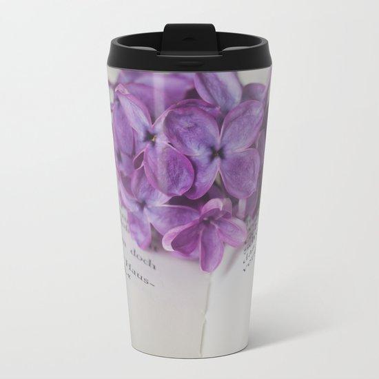 Lilac Bookmark II Metal Travel Mug