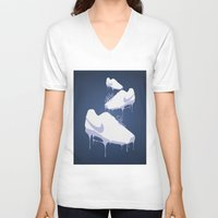 nike V-neck T-shirts featuring Nike Drips by Patrick Cazer