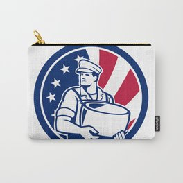 American Artisan Cheese Maker USA Flag Icon Carry-All Pouch