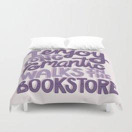 Book Nerd - Romantic Bookstore Purple Duvet Cover