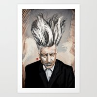 david lynch Art Prints featuring David Lynch by Khasis Lieb